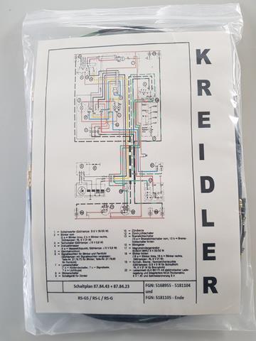 Kreidler RS kabelboom met richtingaanwijzers