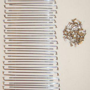 Kreidler Spaakset Chroom 208mm lang 36 stuks met nippels
