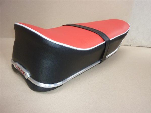 Kreidler Eiertank Sitzbank für Modell 1960 bis 1965 in Rot-Anthrazit farben