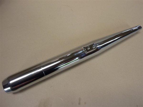 Kreidler 28 mm uitlaat demper met afneembaar achterstuk 3 delig zonder lasnaad.
