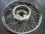 Kreidler 17 inch wiel spaken met RVS verchroomde velg