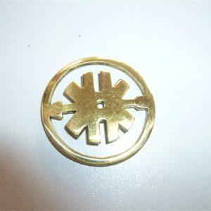Rond Messing logo voor Kreidler Buffeltank model 1966-1972 per stuk: