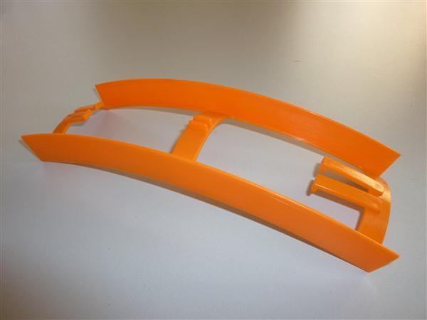 Kreidler Florett tussenstuk tussen frame en achterspatbord Oranje