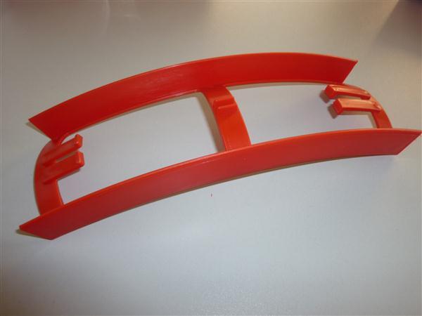 Kreidler Florett tussenstuk tussen frame en achterspatbord Rood