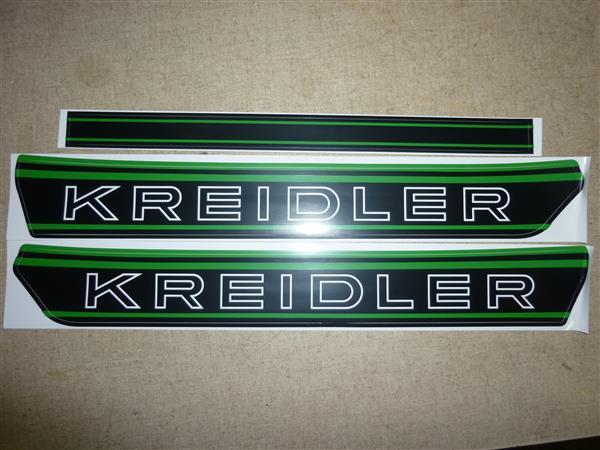 Kreidler bloktank stickers groen
