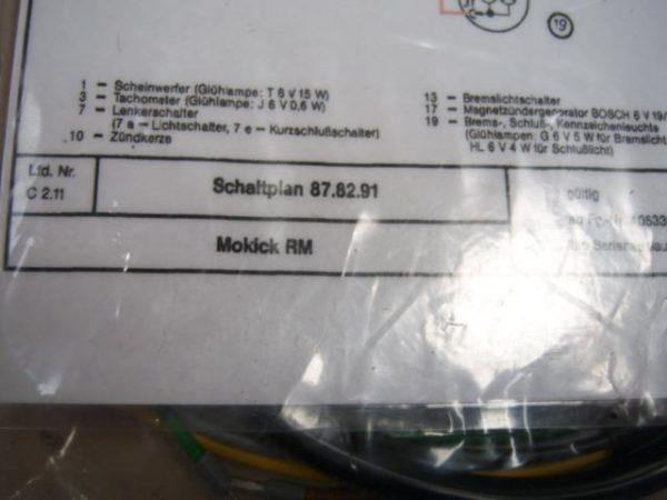 Kreidler Kabelboom Mokick RM type 87.82.91