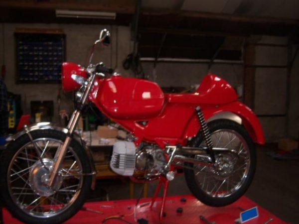 Complete restauratie van Kreidler RS Special Café Racer bouwjaar 1973
