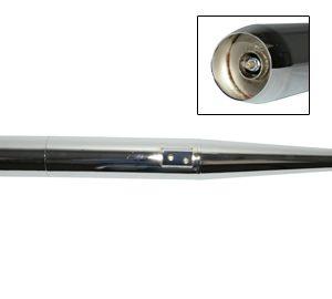 Kreidler 28 mm uitlaat demper met afneembaar achterstuk 3 delig met lasnaad
