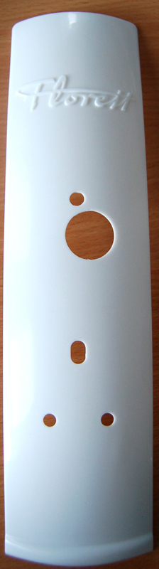 Kreidler witte plaat voor achterspatbord